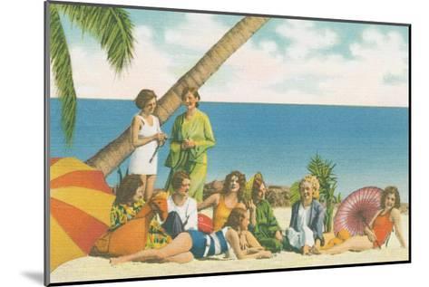 Beauty and the Beach Bright-Wild Apple Portfolio-Mounted Art Print