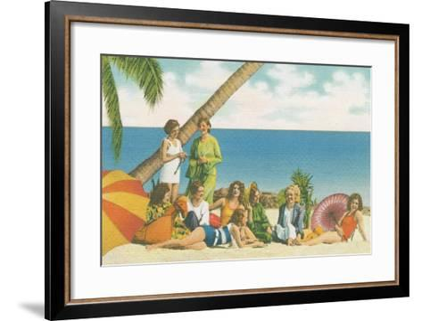 Beauty and the Beach Bright-Wild Apple Portfolio-Framed Art Print