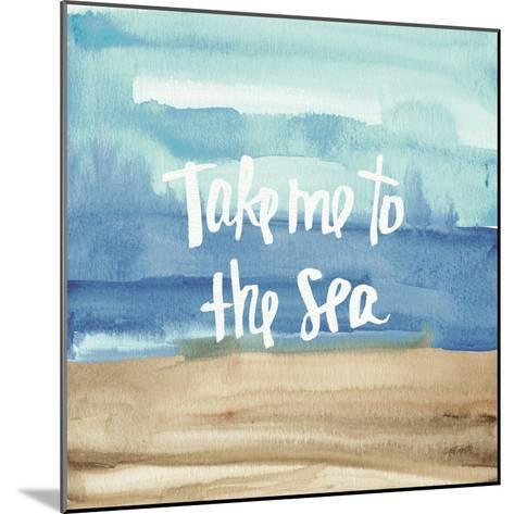 Coastal Breeze Quotes II-Anne Tavoletti-Mounted Art Print