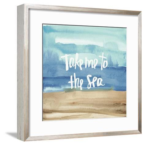 Coastal Breeze Quotes II-Anne Tavoletti-Framed Art Print