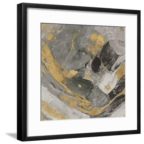 Arroyo Gold and Black-Albena Hristova-Framed Art Print