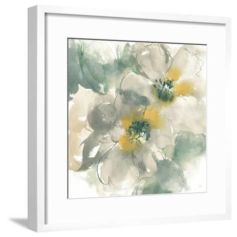 Silver Quince I on White-Chris Paschke-Framed Art Print