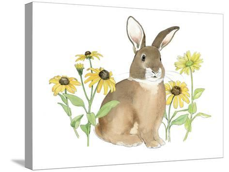 Wildflower Bunnies III-Beth Grove-Stretched Canvas Print