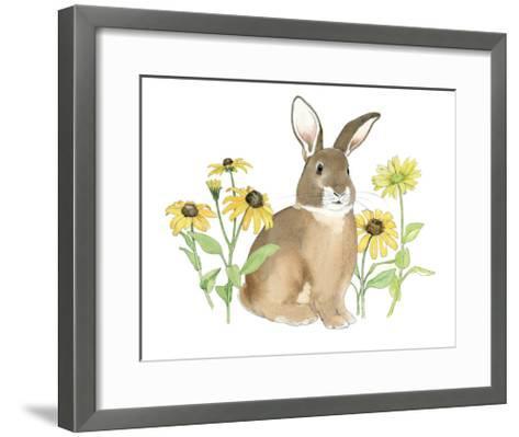 Wildflower Bunnies III-Beth Grove-Framed Art Print