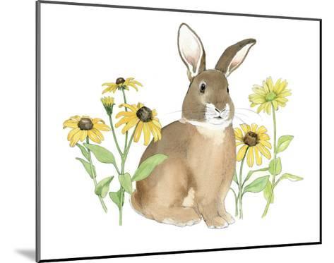Wildflower Bunnies III-Beth Grove-Mounted Art Print
