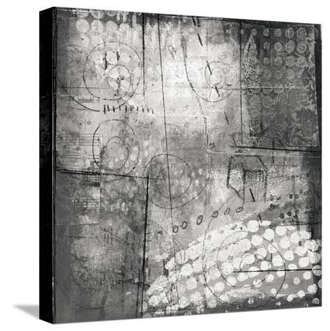 Under the Tree Square III BW-Cheryl Warrick-Stretched Canvas Print