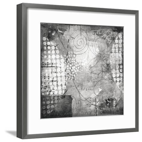 Under the Tree Square I BW-Cheryl Warrick-Framed Art Print