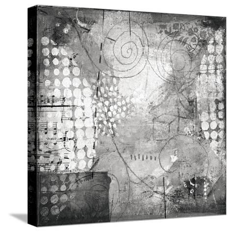 Under the Tree Square I BW-Cheryl Warrick-Stretched Canvas Print