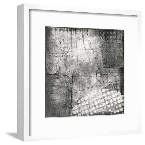 Under the Tree Square III BW-Cheryl Warrick-Framed Art Print