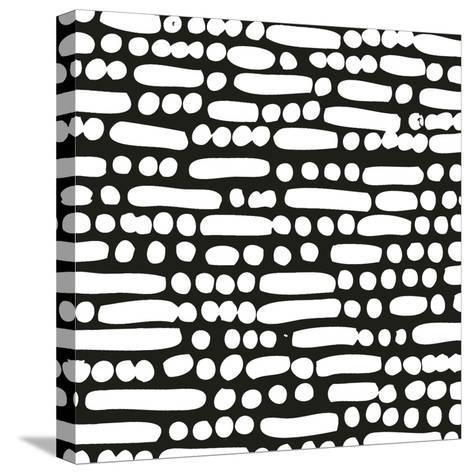 Cross Current Square Up III BW-Cheryl Warrick-Stretched Canvas Print