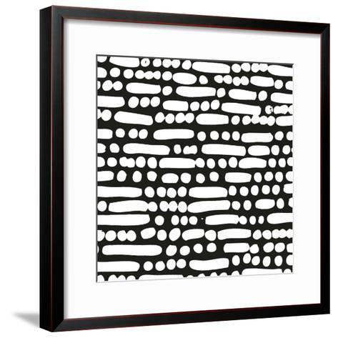 Cross Current Square Up III BW-Cheryl Warrick-Framed Art Print