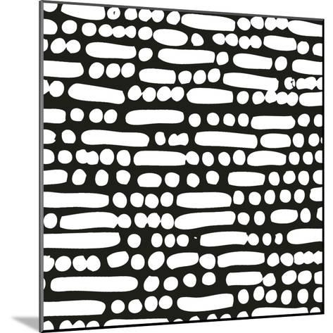 Cross Current Square Up III BW-Cheryl Warrick-Mounted Art Print