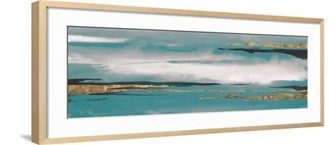 Gilded Storm I Teal Grey Crop-Chris Paschke-Framed Art Print