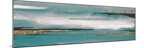 Gilded Storm I Teal Grey Crop-Chris Paschke-Mounted Art Print