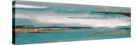 Gilded Storm I Teal Grey Crop-Chris Paschke-Stretched Canvas Print
