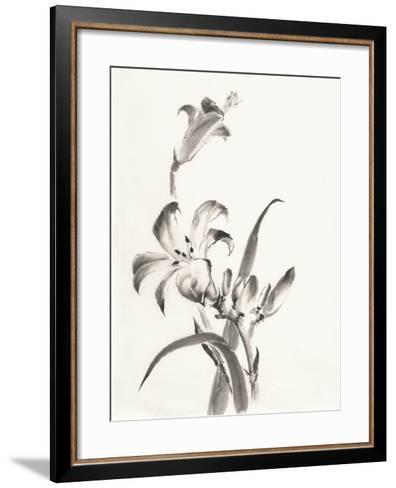 Sumi Daylily II-Chris Paschke-Framed Art Print