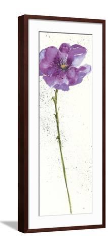 Mint Poppies I in Purple Crop-Chris Paschke-Framed Art Print