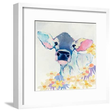 Bessie with Flowers-Avery Tillmon-Framed Art Print