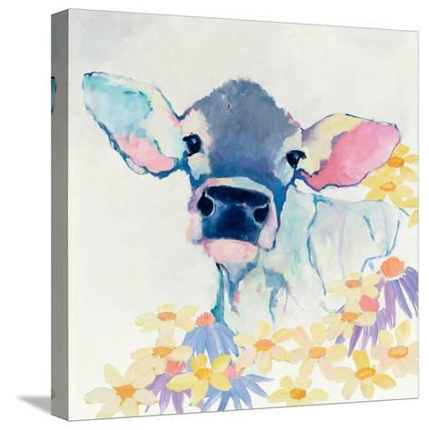 Bessie with Flowers-Avery Tillmon-Stretched Canvas Print
