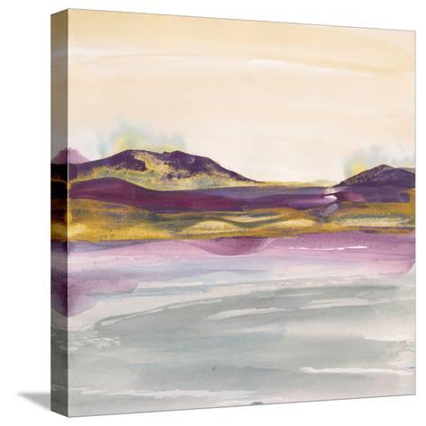 Purple Rock Dawn I Gold-Chris Paschke-Stretched Canvas Print