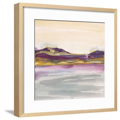 Purple Rock Dawn I Gold-Chris Paschke-Framed Art Print