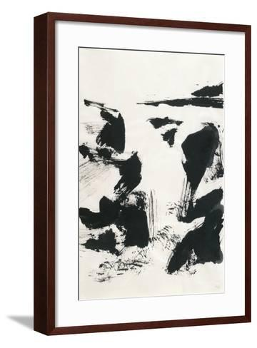 Sumi Waterfall VI-Chris Paschke-Framed Art Print