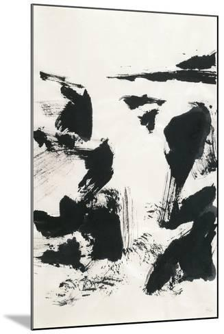 Sumi Waterfall VI-Chris Paschke-Mounted Art Print