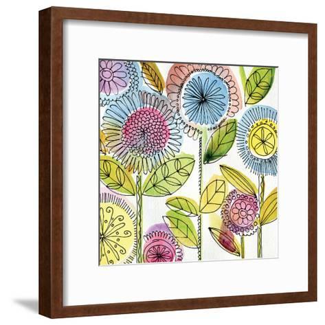 Watercolor Flowers-Anne Tavoletti-Framed Art Print
