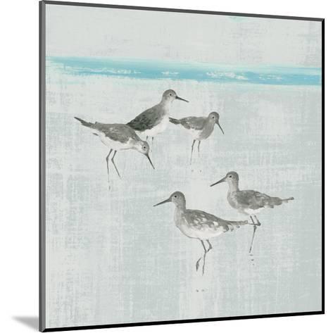 Sandpipers Square I Gray-Avery Tillmon-Mounted Art Print