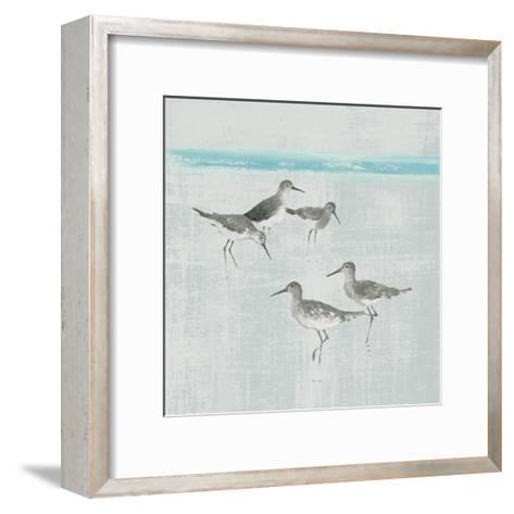 Sandpipers Square I Gray-Avery Tillmon-Framed Art Print