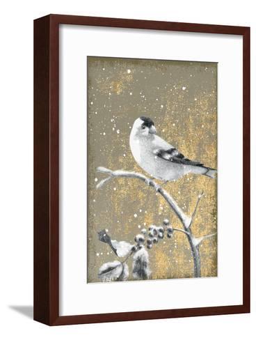 Winter Birds Goldfinch Neutral-Beth Grove-Framed Art Print