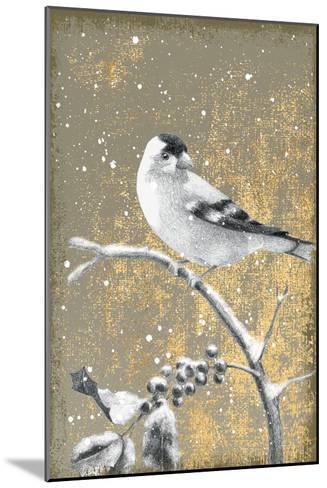 Winter Birds Goldfinch Neutral-Beth Grove-Mounted Art Print