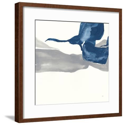 Sapphire and Gray I-Chris Paschke-Framed Art Print