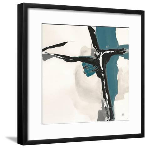 Creamy Cerulean II-Chris Paschke-Framed Art Print