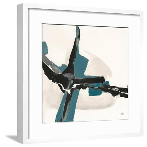 Creamy Cerulean I-Chris Paschke-Framed Art Print