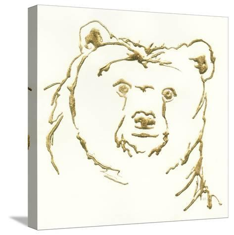 Gilded Brown Bear-Chris Paschke-Stretched Canvas Print