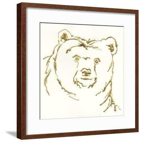Gilded Brown Bear-Chris Paschke-Framed Art Print