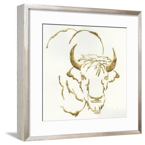 Gilded Bison-Chris Paschke-Framed Art Print