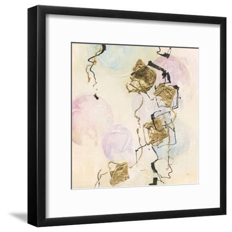 Gold Blocks on Pastel I-Chris Paschke-Framed Art Print