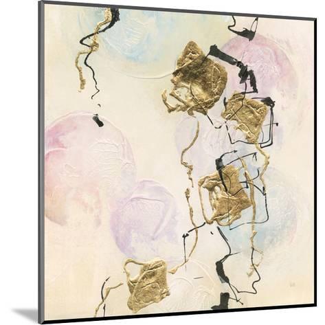 Gold Blocks on Pastel I-Chris Paschke-Mounted Art Print