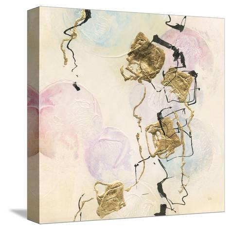 Gold Blocks on Pastel I-Chris Paschke-Stretched Canvas Print