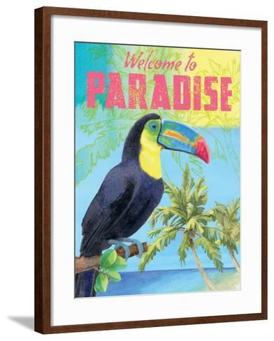 Island Time Tucan II Bright-Beth Grove-Framed Art Print