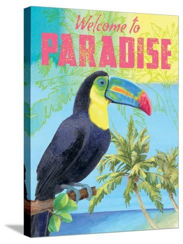 Island Time Tucan II Bright-Beth Grove-Stretched Canvas Print