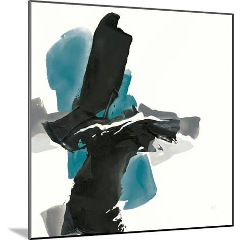 Black and Teal IV-Chris Paschke-Mounted Art Print