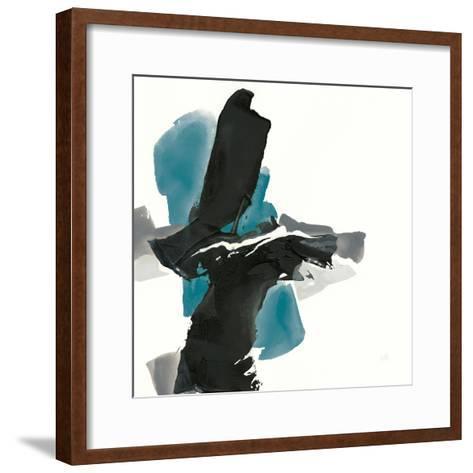Black and Teal IV-Chris Paschke-Framed Art Print