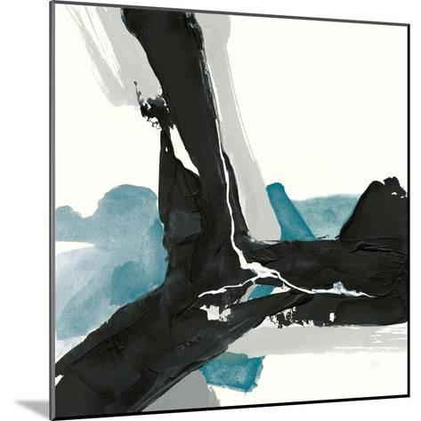 Black and Teal III-Chris Paschke-Mounted Art Print