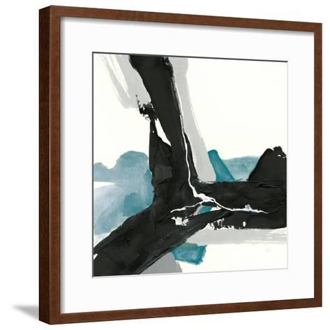 Black and Teal III-Chris Paschke-Framed Art Print