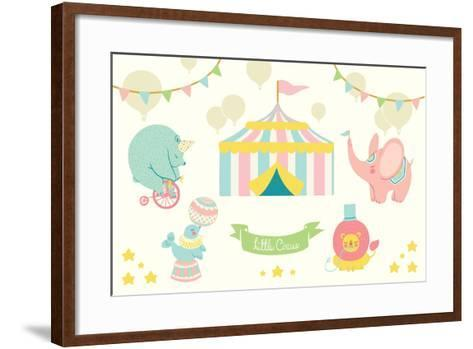 Little Circus Pastel-Cleonique Hilsaca-Framed Art Print
