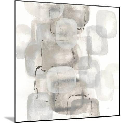 Neutral Stacking I White-Chris Paschke-Mounted Art Print
