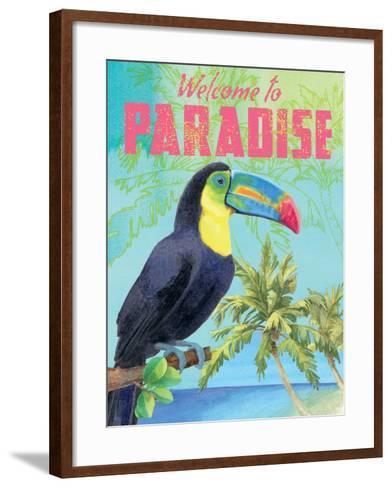 Island Time Toucan II-Beth Grove-Framed Art Print